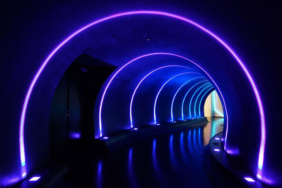 Tunnel of Light in Small Worlds TOKYO (indoor theme park)