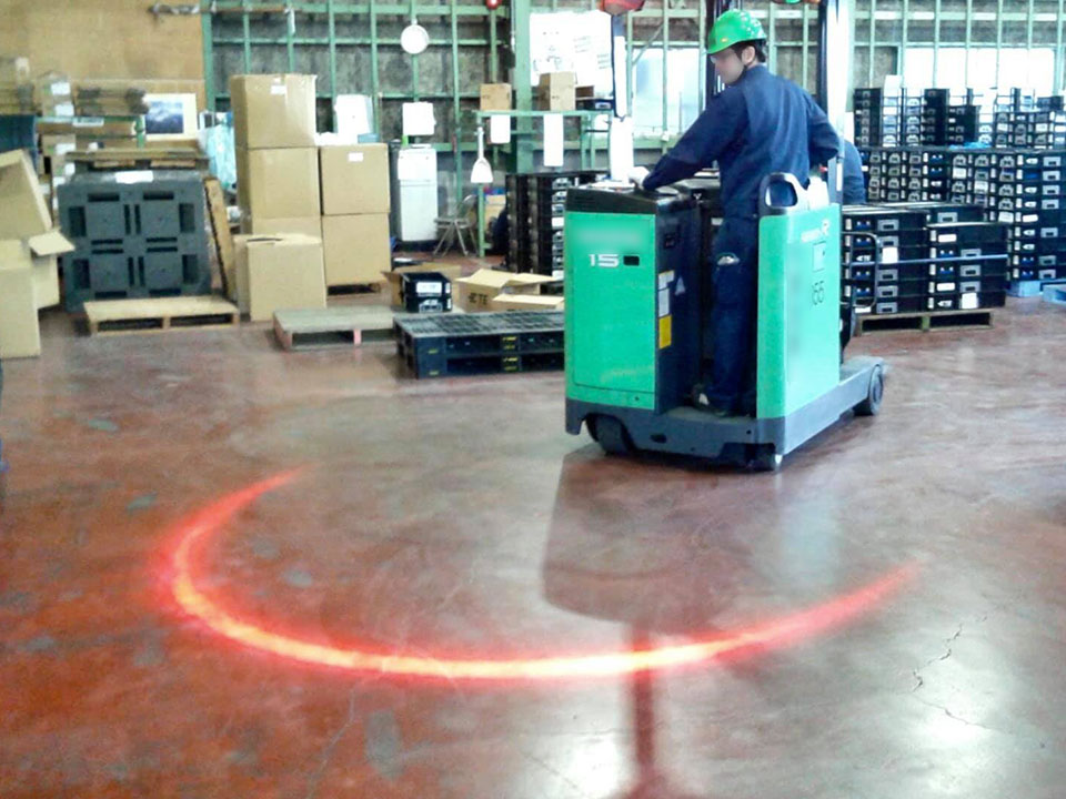 For Forklifts: Warning Zone <HOLOLIGHT ARCH>