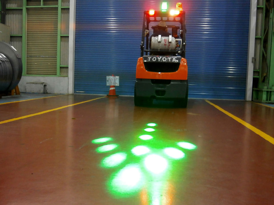 For Forklifts: Direction Pointer <HOLOLIGHT DOT-ARROW>