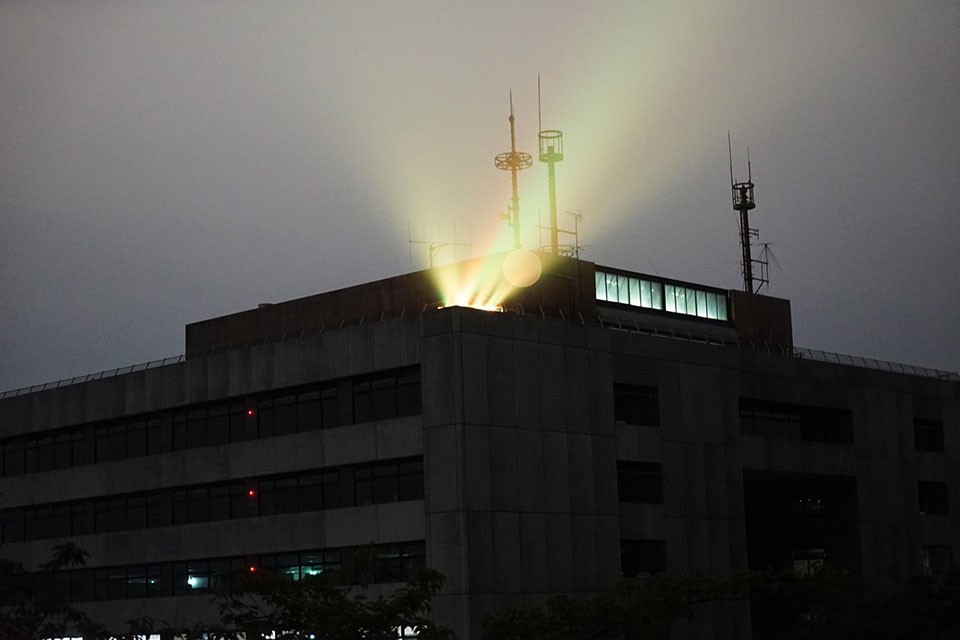 浜松城を遠距離からライトアップ