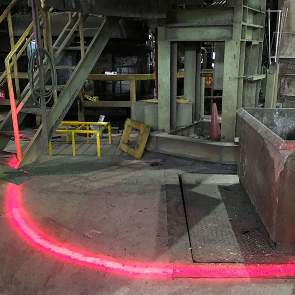 工場内の危険ゾーンを可視化
