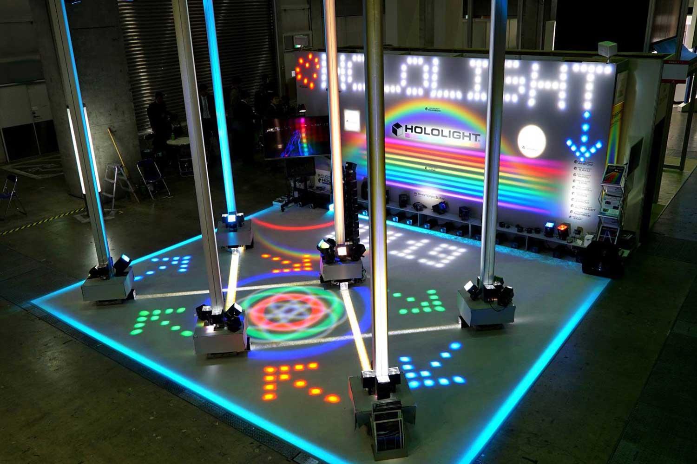 様々な光パターンを現出させるLED照明「ホロライト・マルチドット」シリーズ