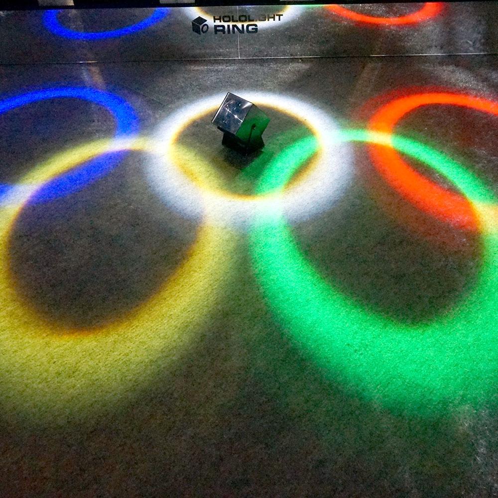 円環型 光パターン形成LED照明「ホロライト・リング」シリーズ